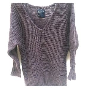 Purple/grey Wool/Acrylic Sweater AE Outfitters S